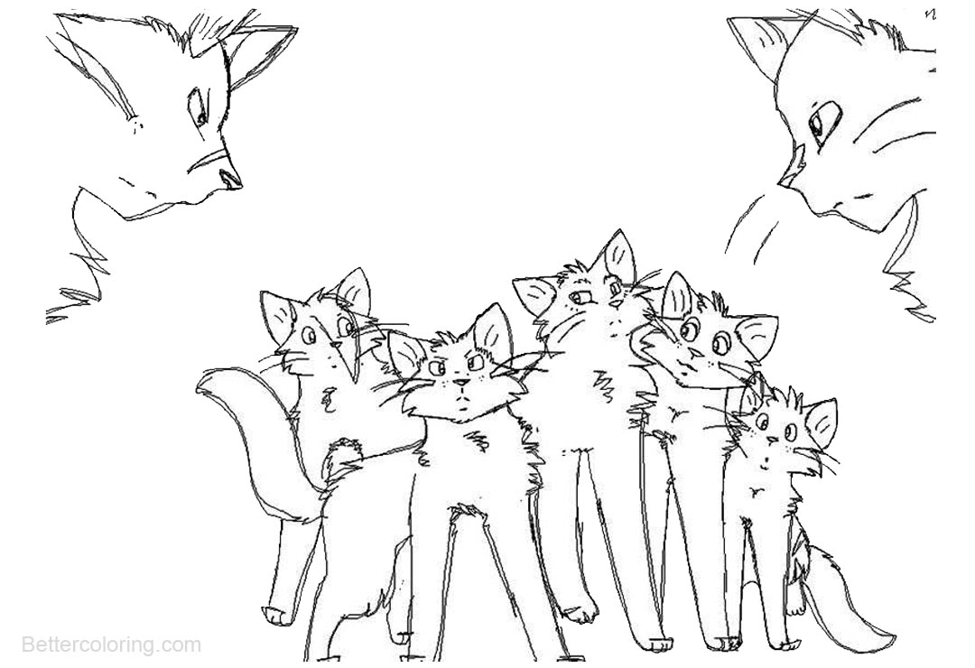 Free Warrior Cats Coloring Pages by thegreatgreywolf printable