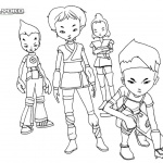 Warriors of Code Lyoko Coloring Pages