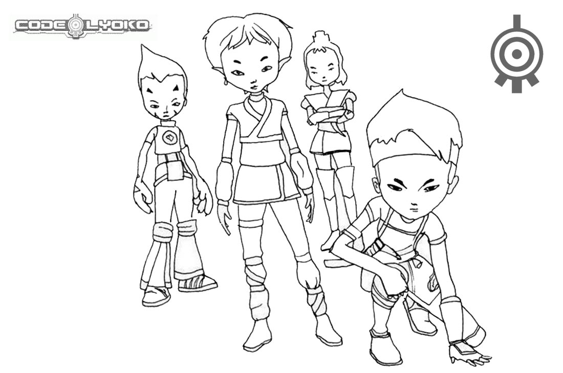 code lyoko coloring pages - warriors of code lyoko coloring pages free printable