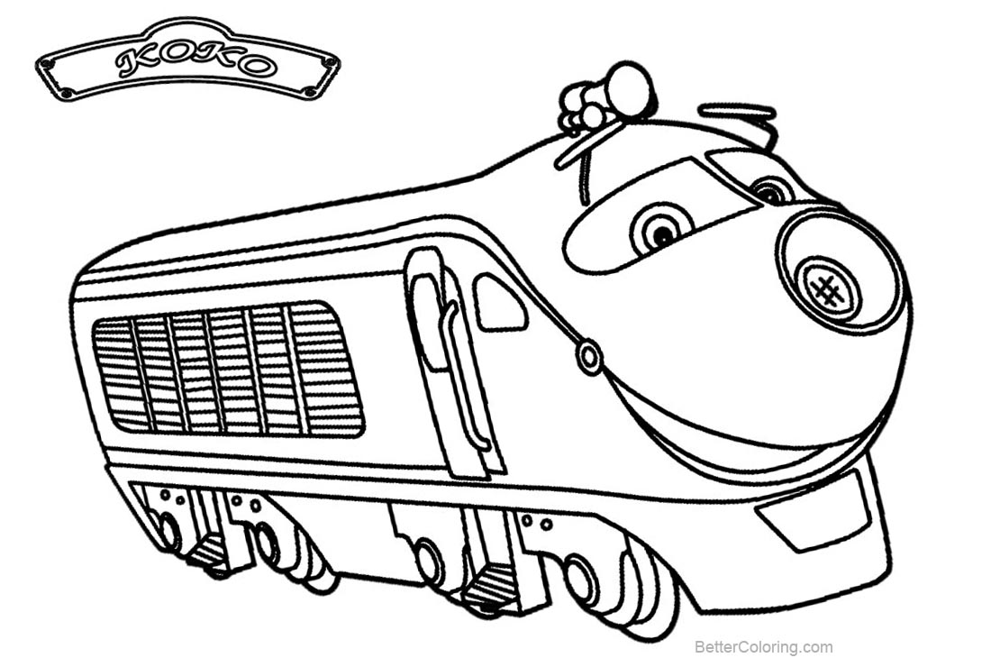 coloring pages chuggington | Wilson Train from Chuggington Coloring Pages - Free ...