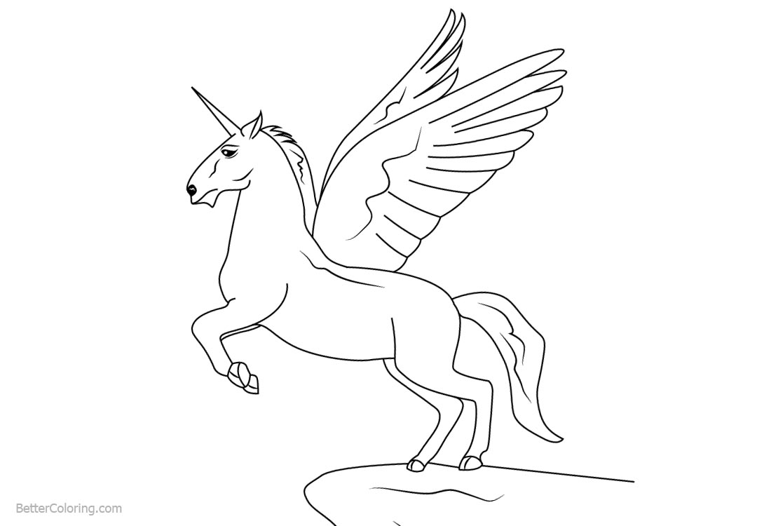 Winged Unicorn Coloring Pages Ready to Fly - Free ...