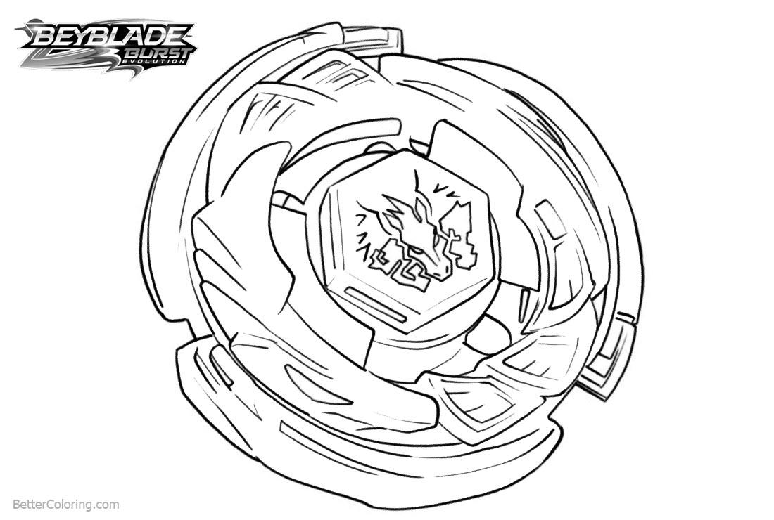 Free beyblade burst evolution coloring pages printable
