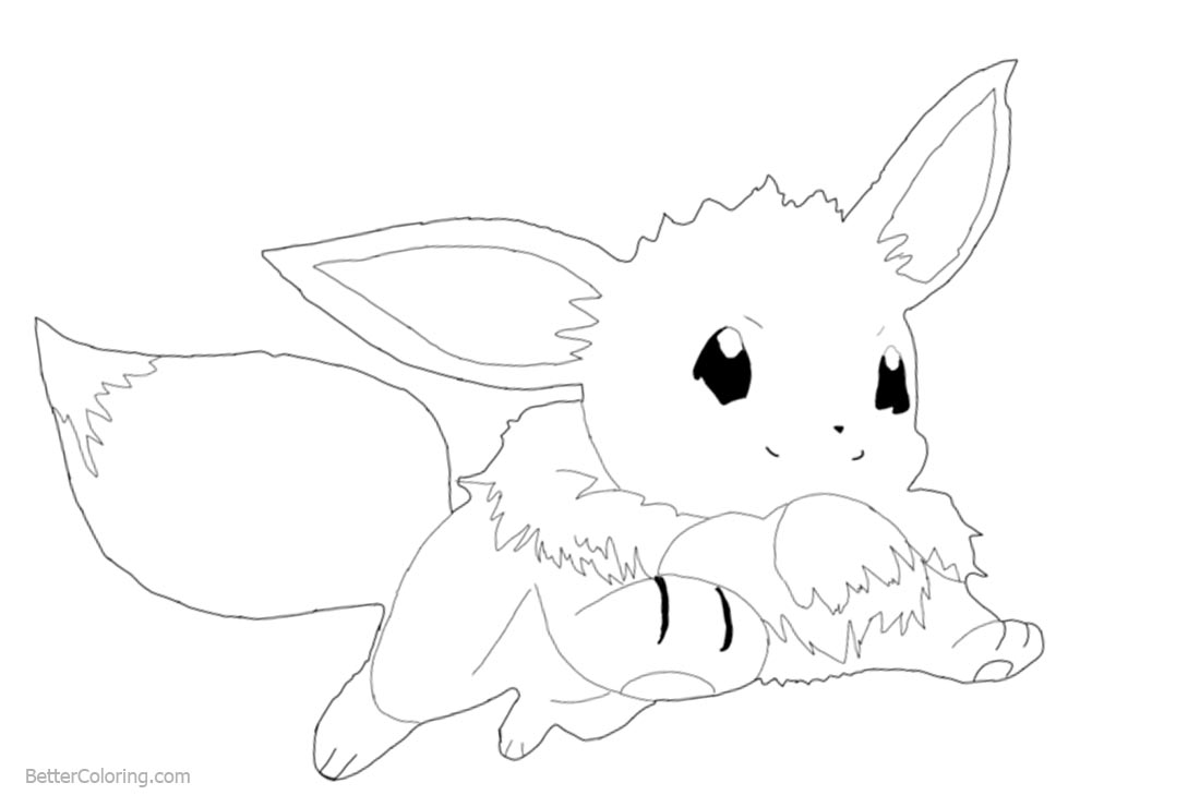 rEevee Coloring Pages by angiefour printable for free