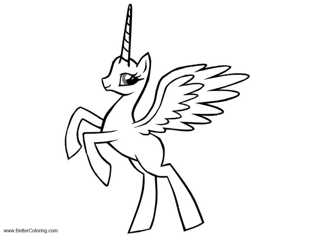 Alicorn Base Coloring Pages Line Drawing by Tardisisblue ...