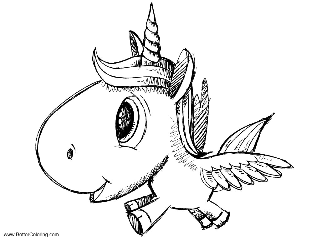 Alicorn Coloring Pages Cartoon