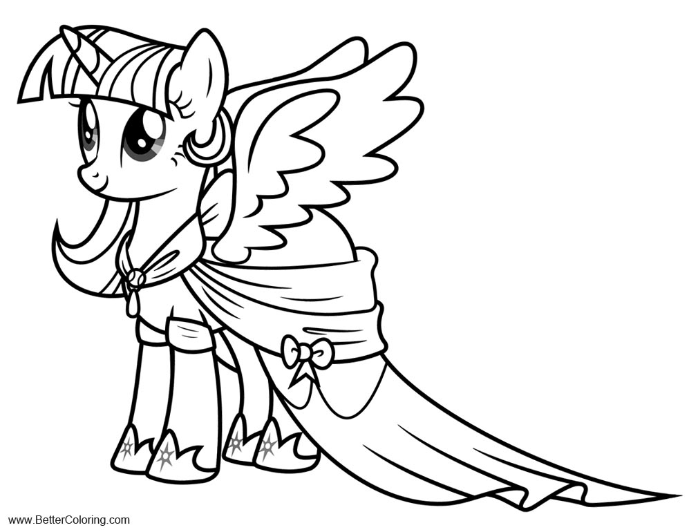 Free Alicorn Coloring Pages MLP Twilight Sparkle printable