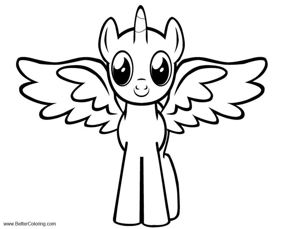 Alicorn Coloring Pages Ponies by Gray Vizard Free