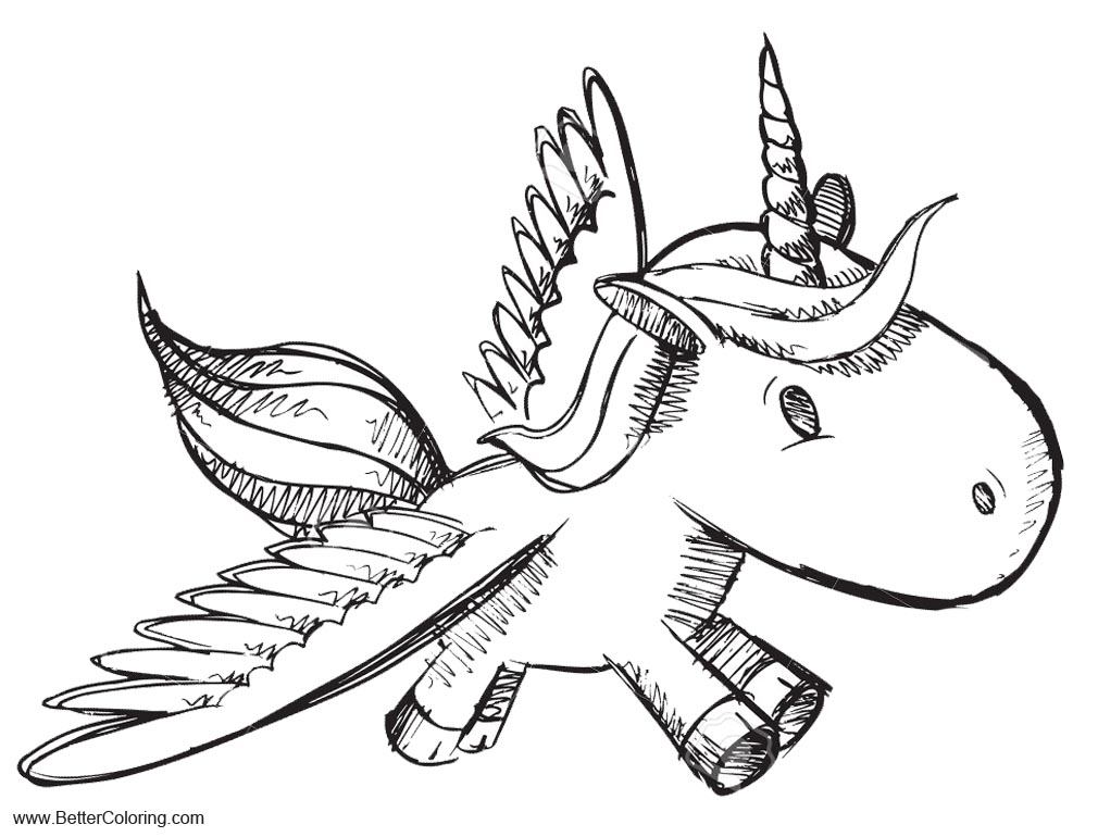 Alicorn Coloring Pages Sketch - Free Printable Coloring Pages