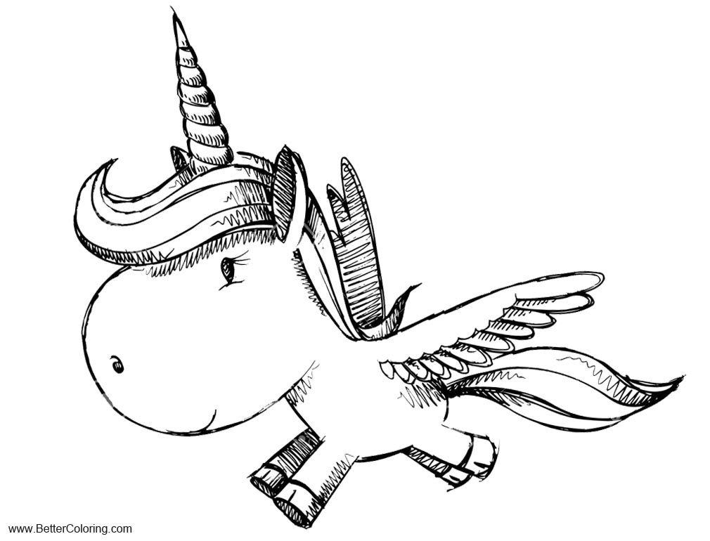 Alicorn Coloring Pages Unicorn Pegasus Free Printable Coloring Pages