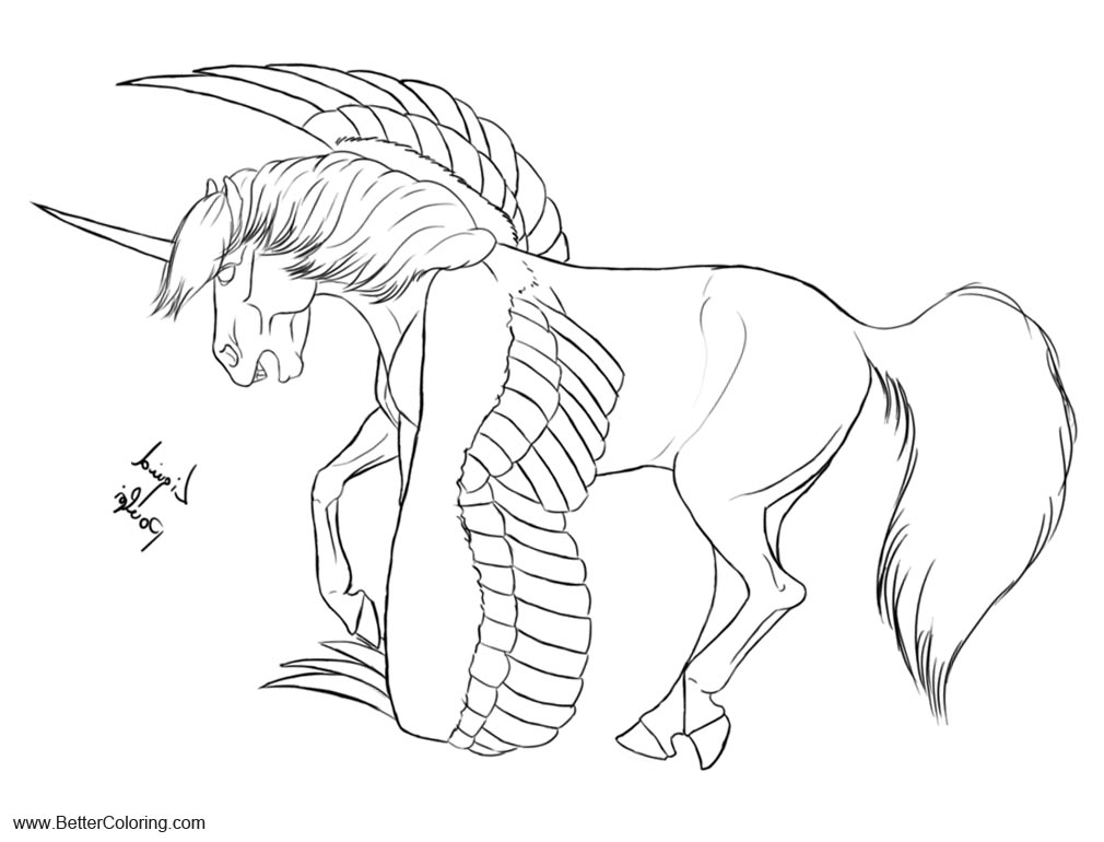 Alicorn Coloring Pages By Liquidpoulpi Free Printable Coloring Pages