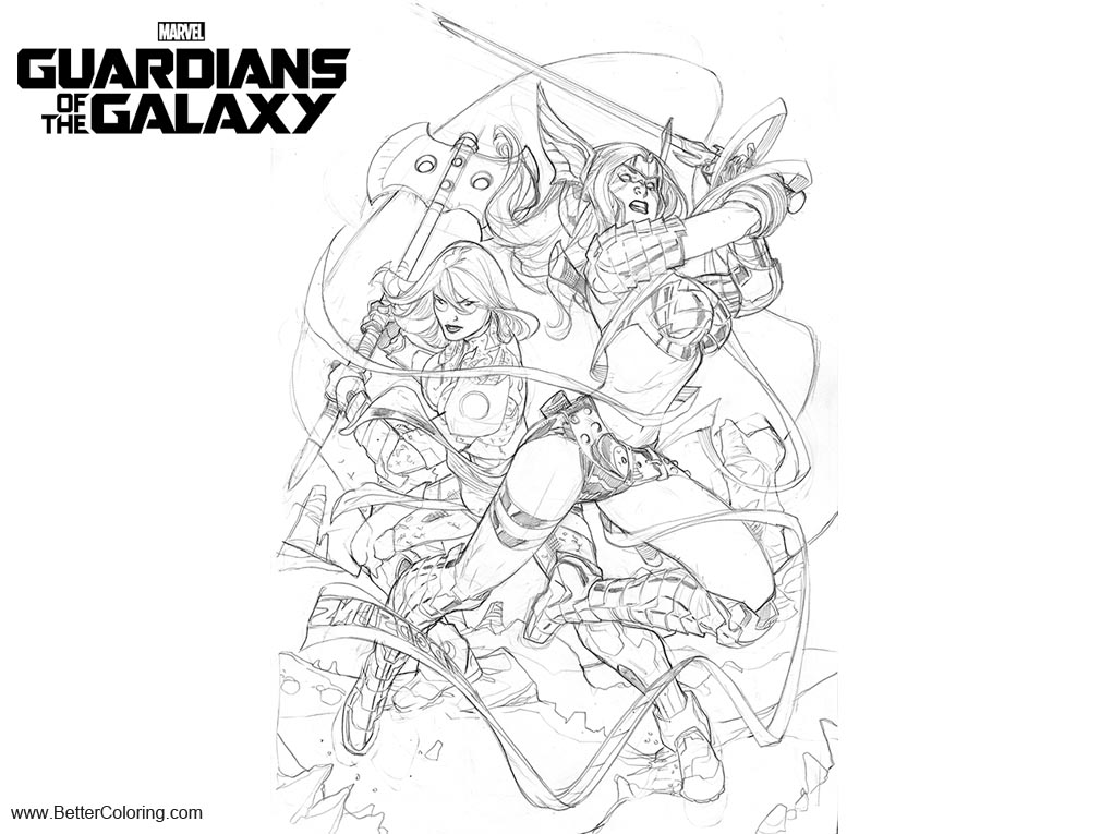 Free Angela from Guardians of the Galaxy Coloring Pages by terrydodson printable