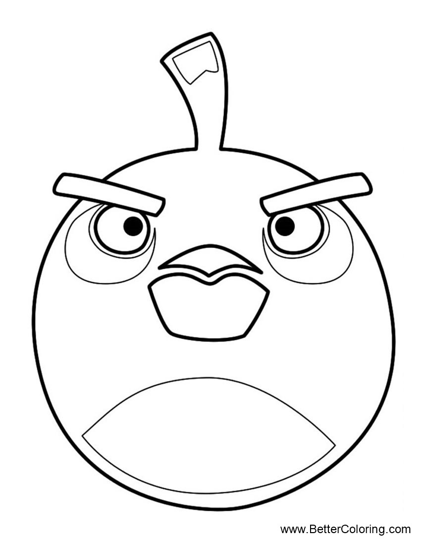 Angry Birds Coloring Pages Black Bomb Bird Free Printable Coloring