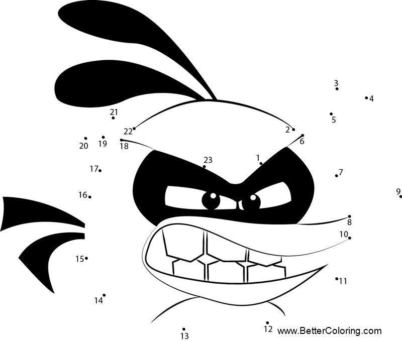 Angry Birds Coloring Pages Bubbles