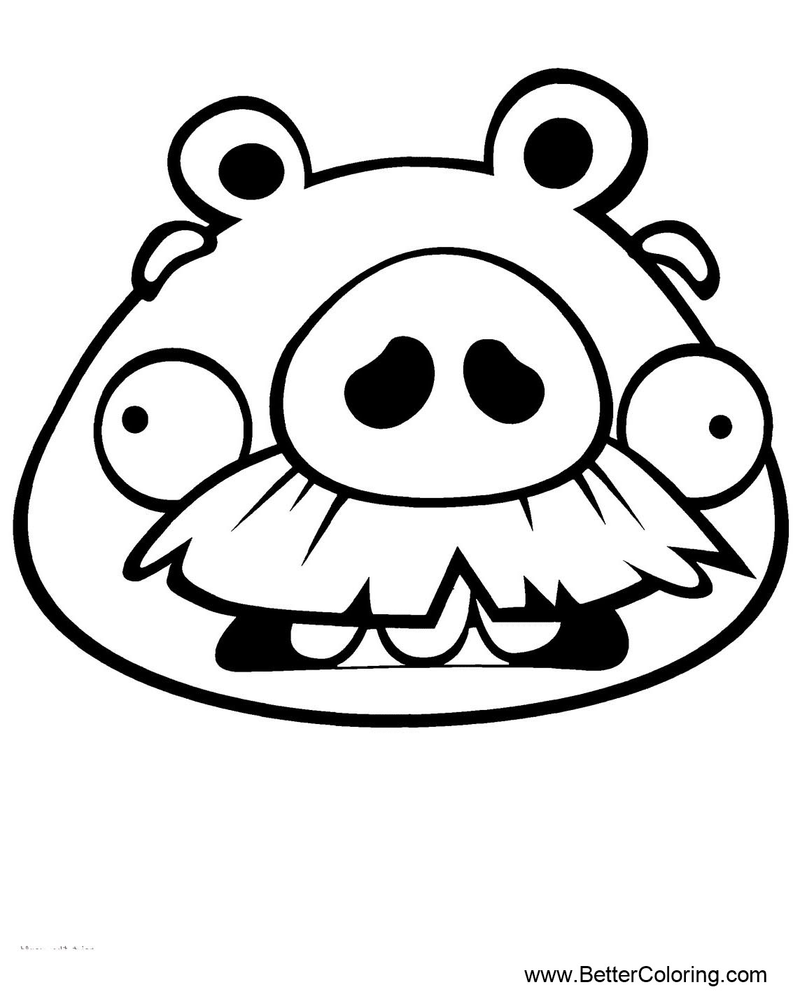 Angry Birds Coloring Pages Old Pig - Free Printable Coloring Pages