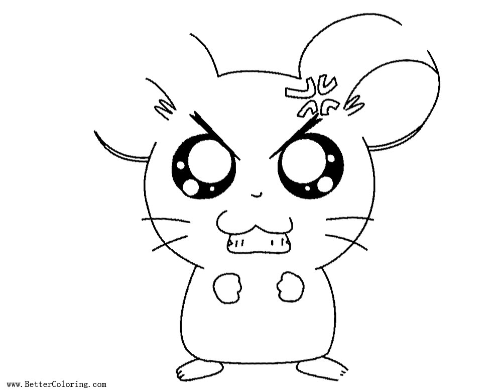 Angry Hamster Coloring Pages Free Printable Coloring Pages