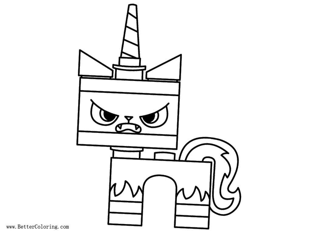 Angry UniKitty Coloring Pages Free Printable Coloring Pages