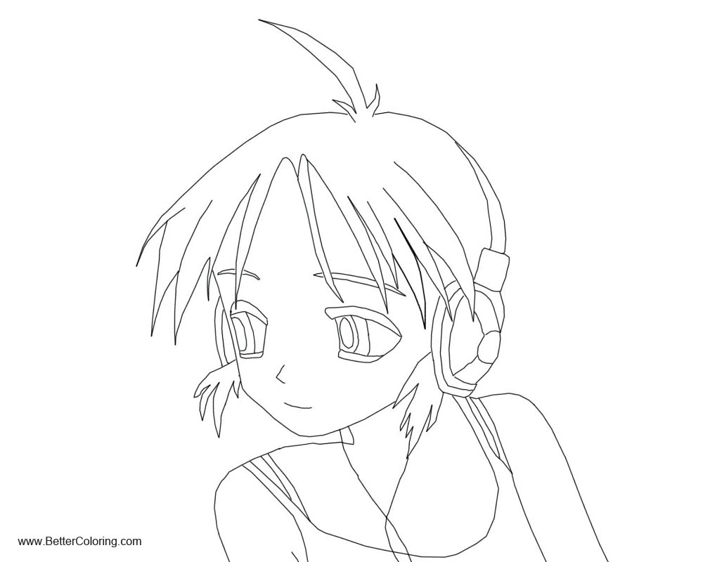 Free Anime Girly Coloring Pages printable