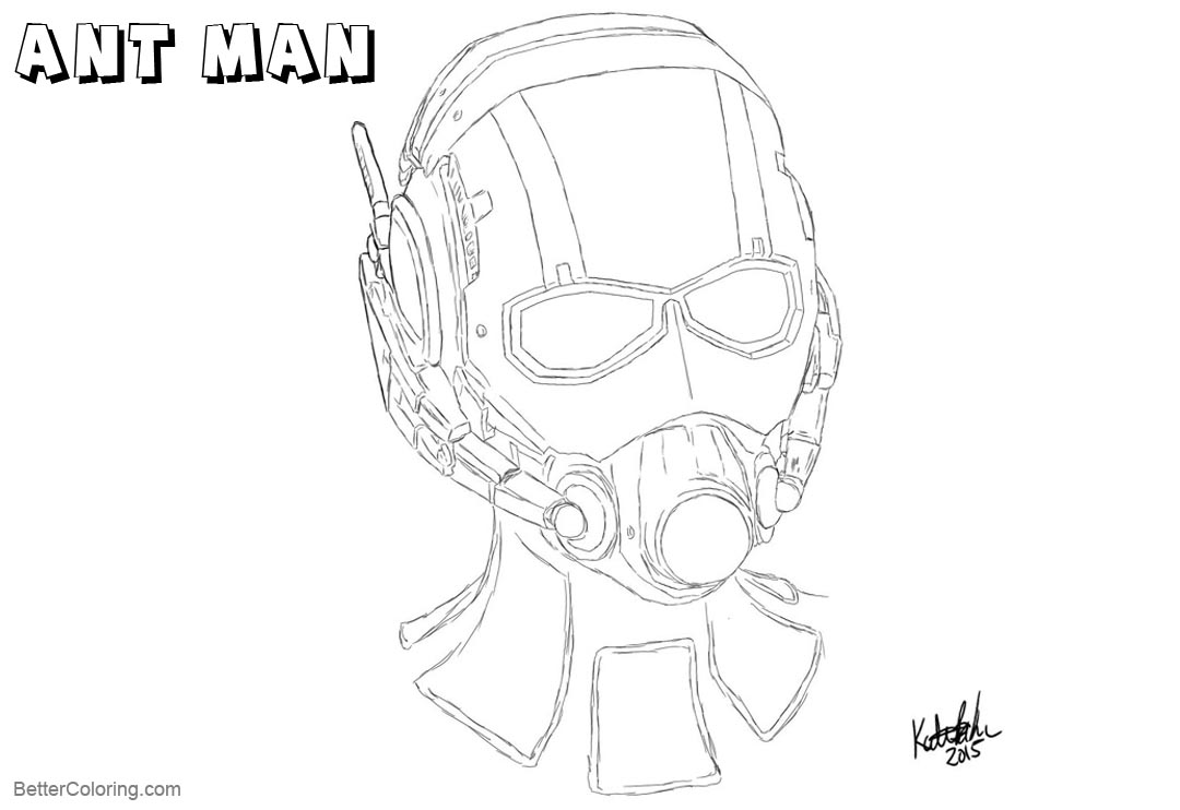 Free Ant Man Coloring Pages Head Sketch by twistedcrystal printable