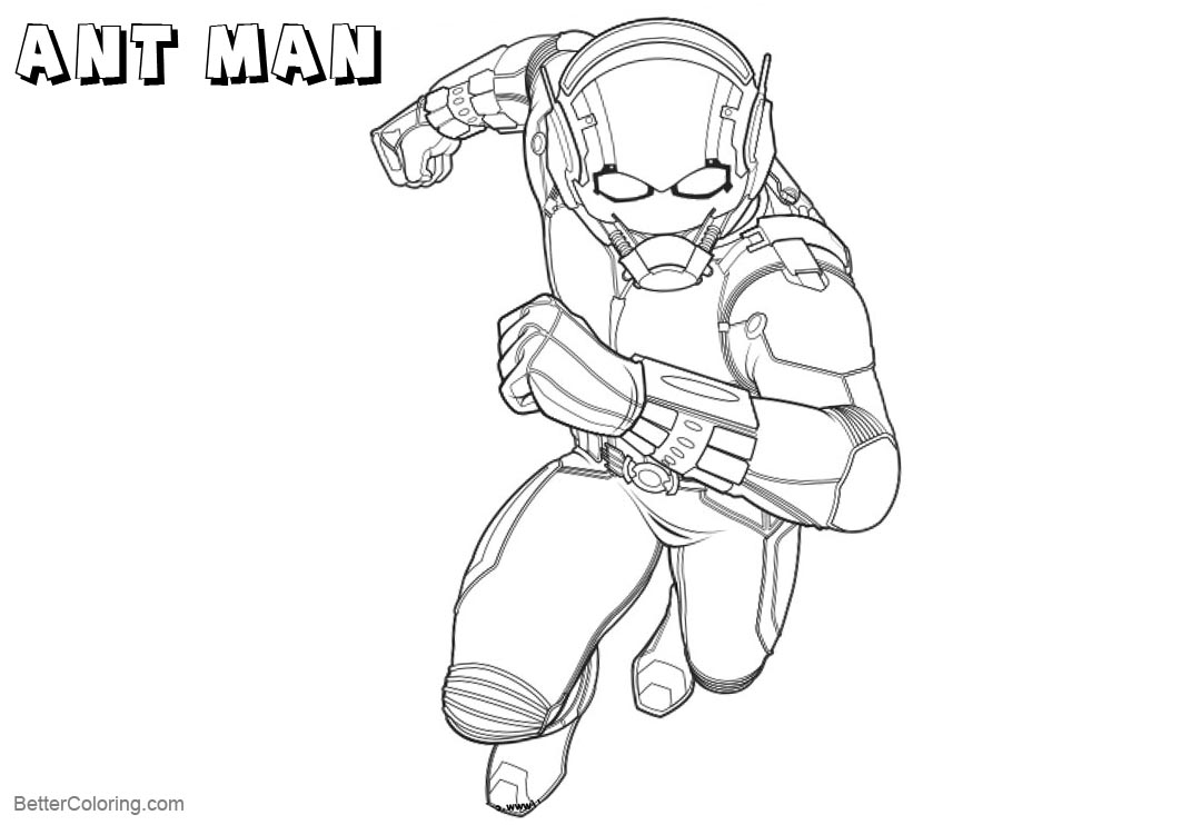 Free Ant Man Coloring Pages Line Drawing printable