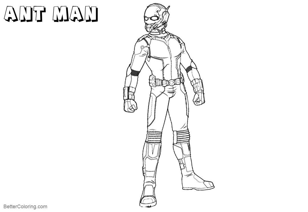 Ant Man Coloring Pages Lineart Free Printable Coloring Pages