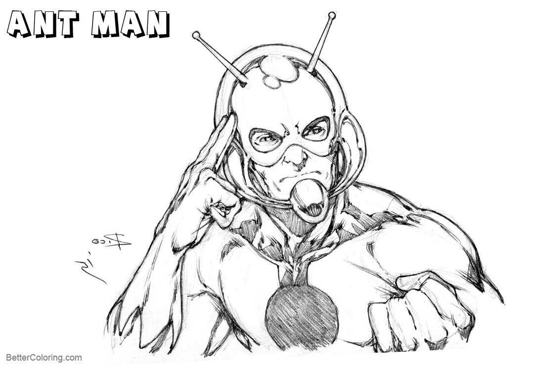 Ant Man Coloring Pages Old Kool
