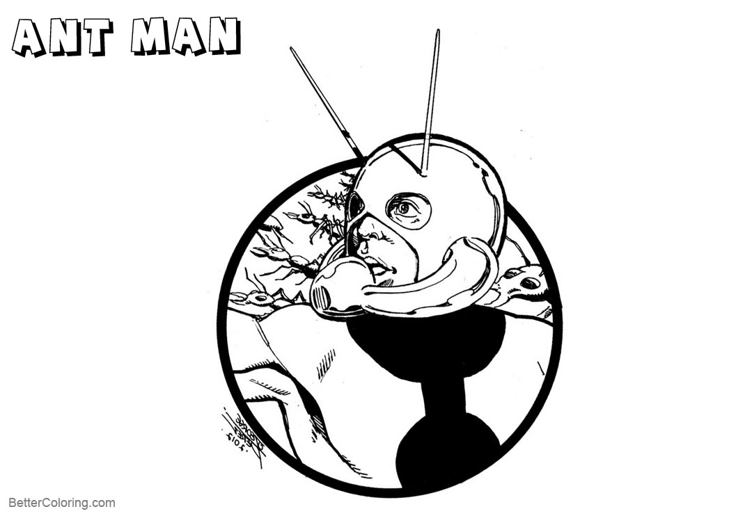 Free Ant Man Coloring Pages by Jon Pinto printable