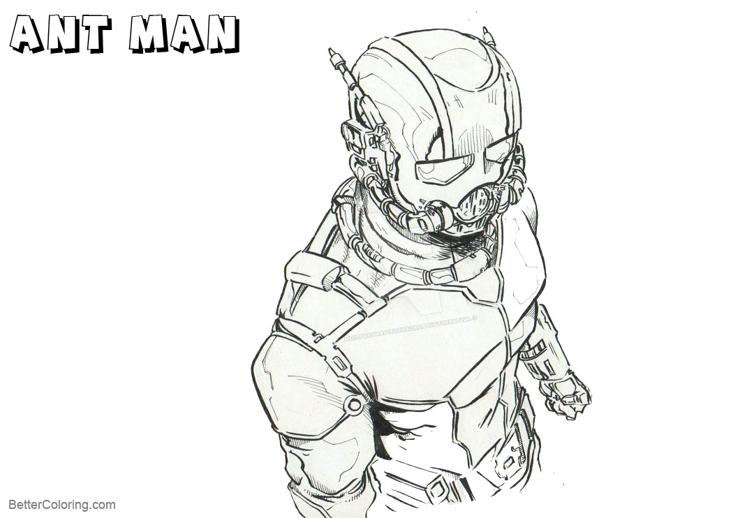 Free Ant Man Coloring Pages by justheretouploadart printable