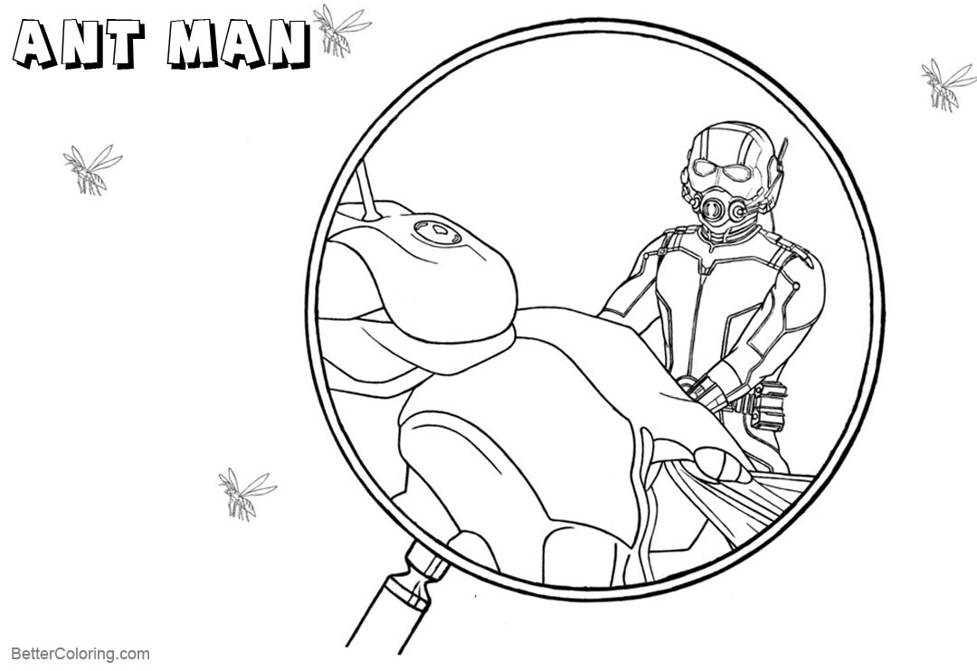 Free Ant Man Coloring Pages by kaskad93 printable