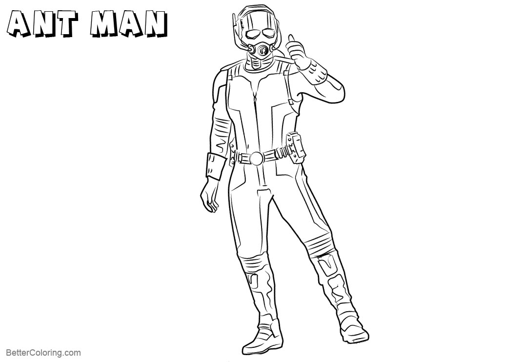 Ant Man Coloring Pages from Captai America Civil War - Free ...