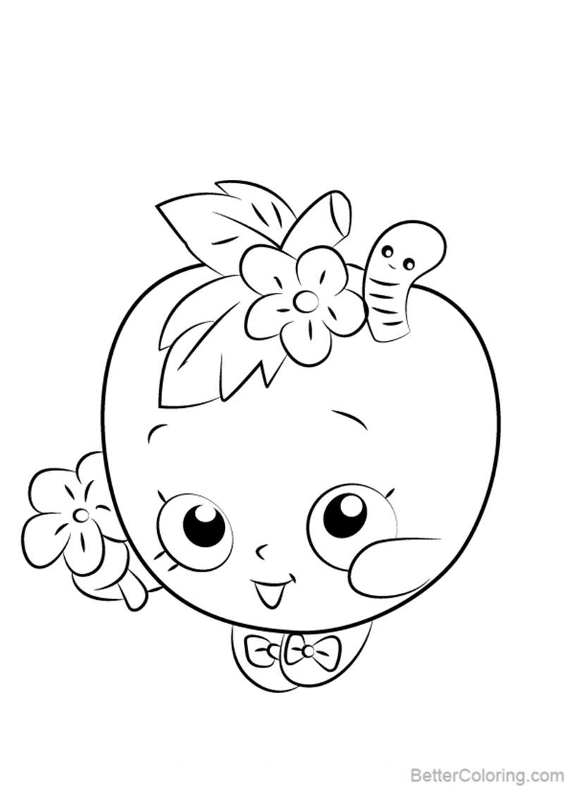 Free Apple Blossom from Shopkins Coloring Pages printable
