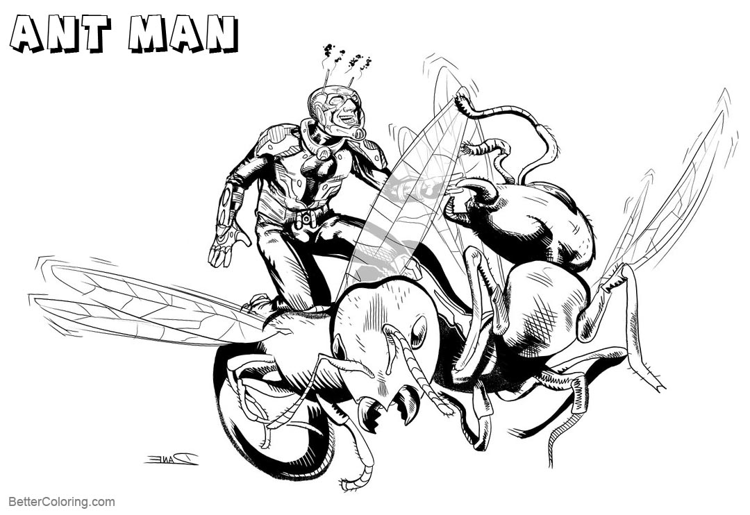 Free Astonishing Ant Man Coloring Pages by thedanetrain printable
