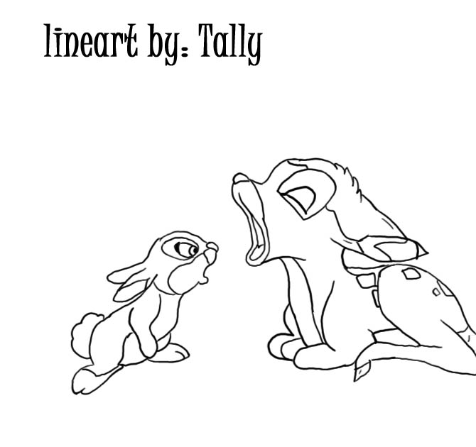Free Baby Bambi Coloring Pages with Baby Thumper by TallyBaby13 printable
