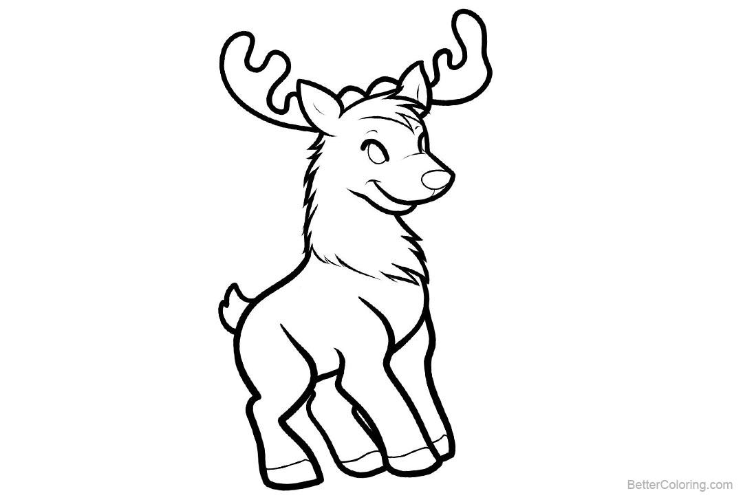 Free Baby Reindeer Coloring Pages printable