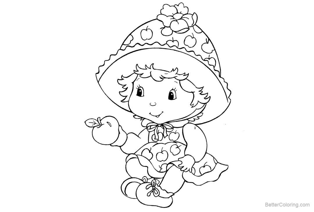 Free Baby Strawberry Shortcake Coloring Pages printable