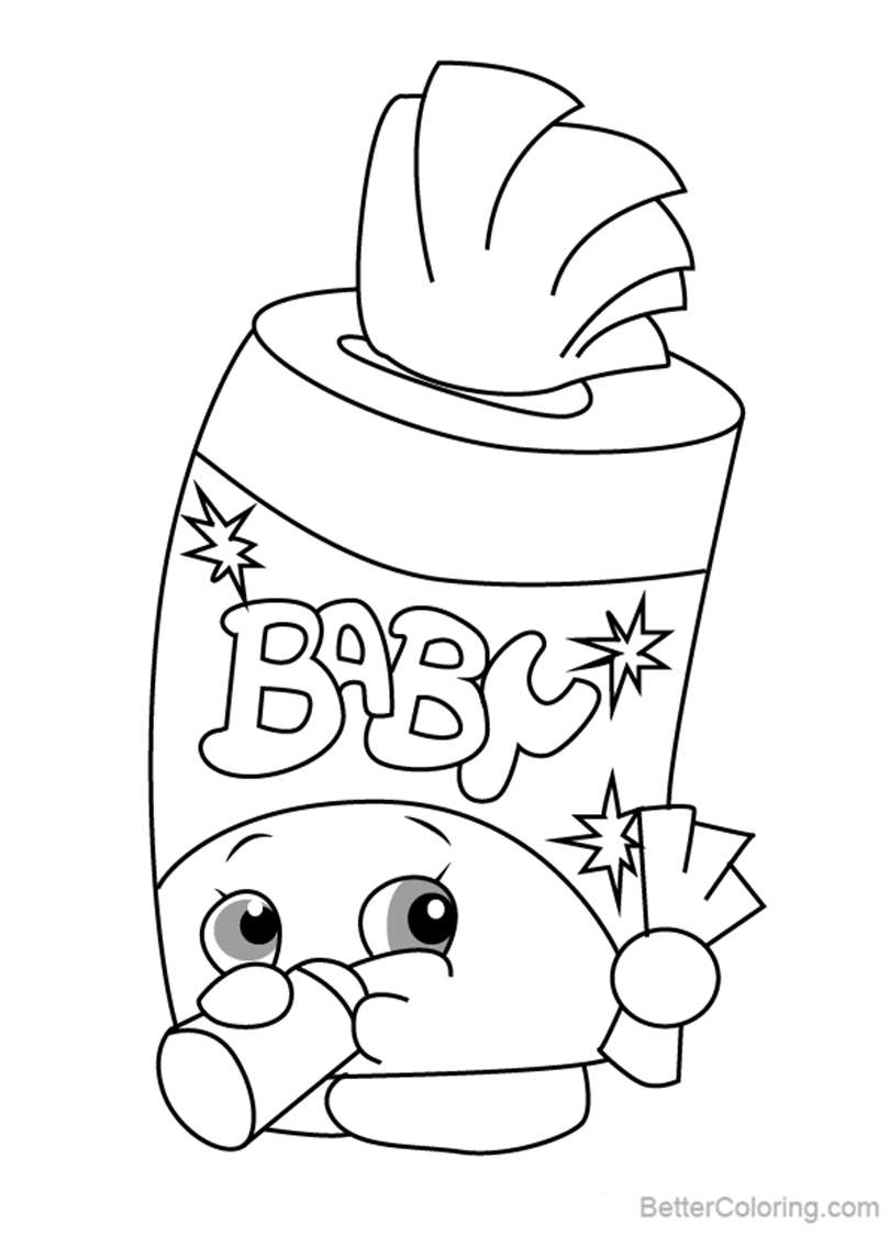Free Baby Swipes from Shopkins Coloring Pages printable