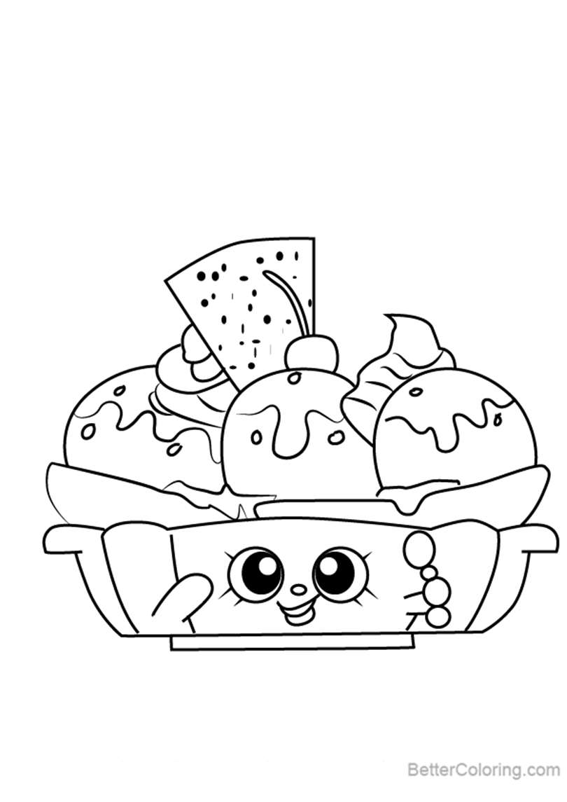 Free Banana Splitty from Shopkins Coloring Pages printable