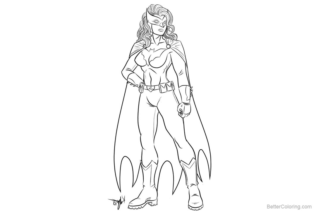 Free Batgirl Coloring Pages Batwoman by kaufee printable