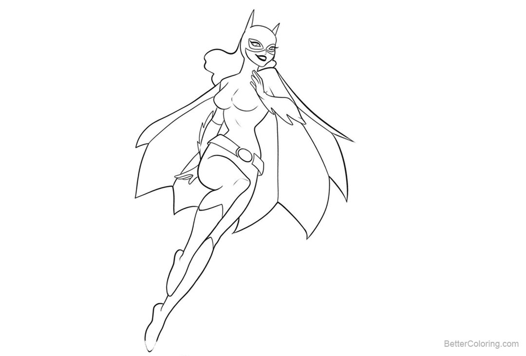 Free Batgirl Coloring Pages Clipart printable