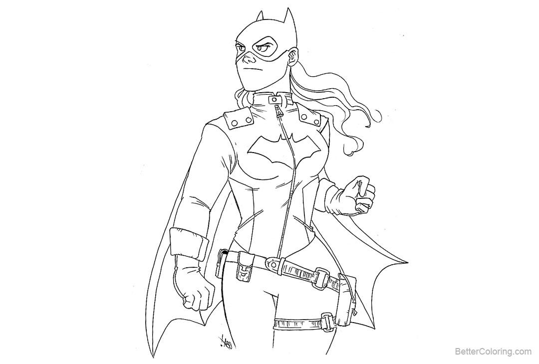 Free Batgirl Coloring Pages Fan Art Carlos Basabe printable