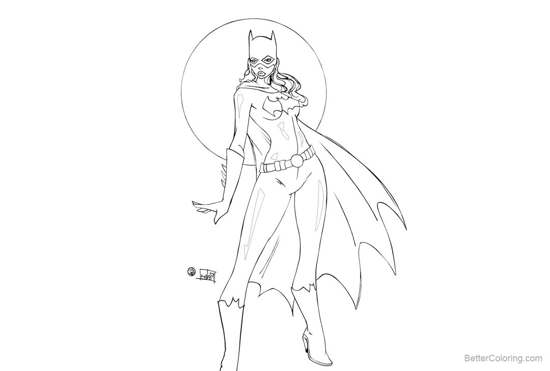 Free Batgirl Coloring Pages Inked by culdesackidz printable