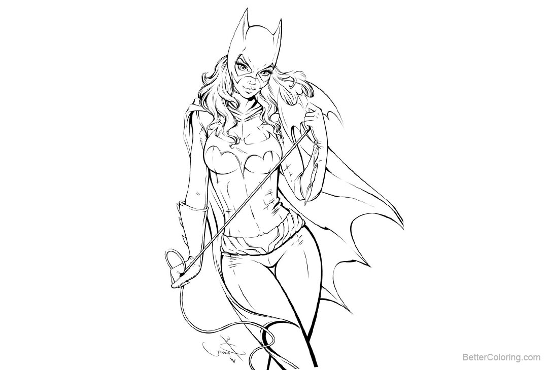 Free Batgirl Coloring Pages Inking by iakovlion printable