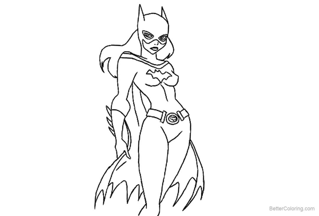 Batgirl Coloring Pages Lineart By Tonicshadow Free Printable