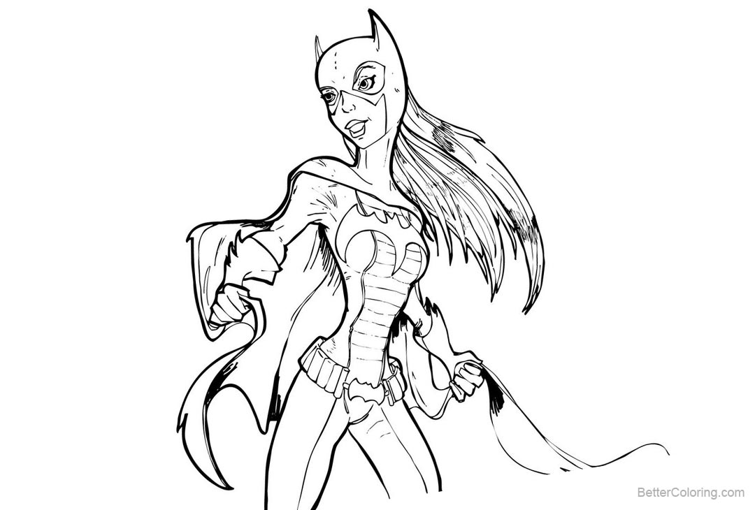 Batgirl Coloring Pages Sketch by pencilbags - Free Printable ...