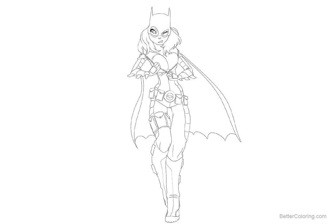 Free Batgirl Coloring Pages by drunken novice printable