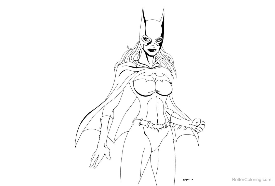 Free Batgirl Coloring Pages by eso2001 printable