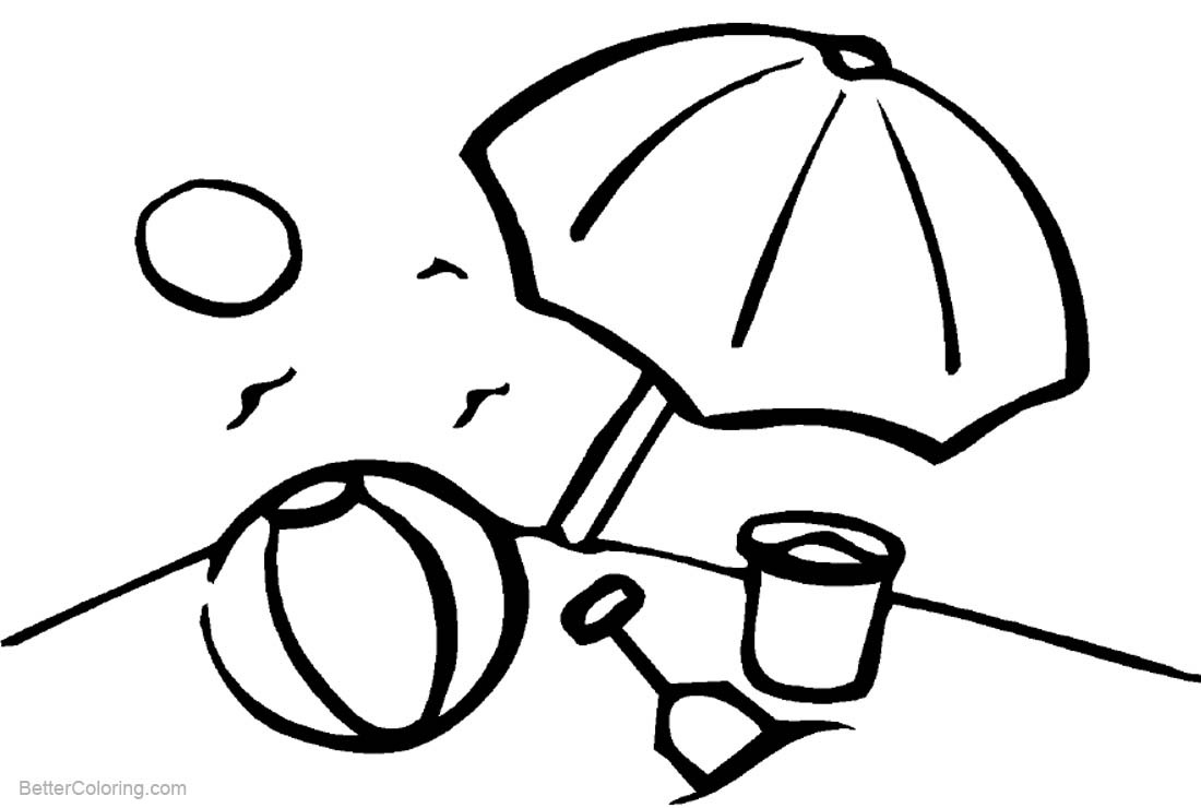 Beach Ball Coloring Pages Black and White - Free Printable ...