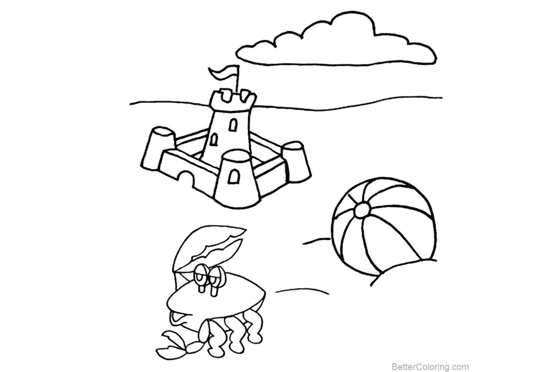 Free Beach Ball Coloring Pages Line Drawing printable