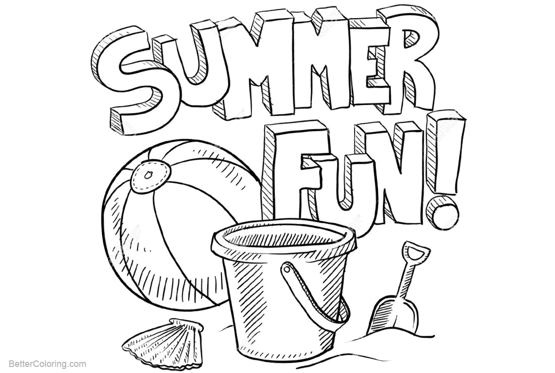 Free Beach Ball Coloring Pages Summer Fun printable