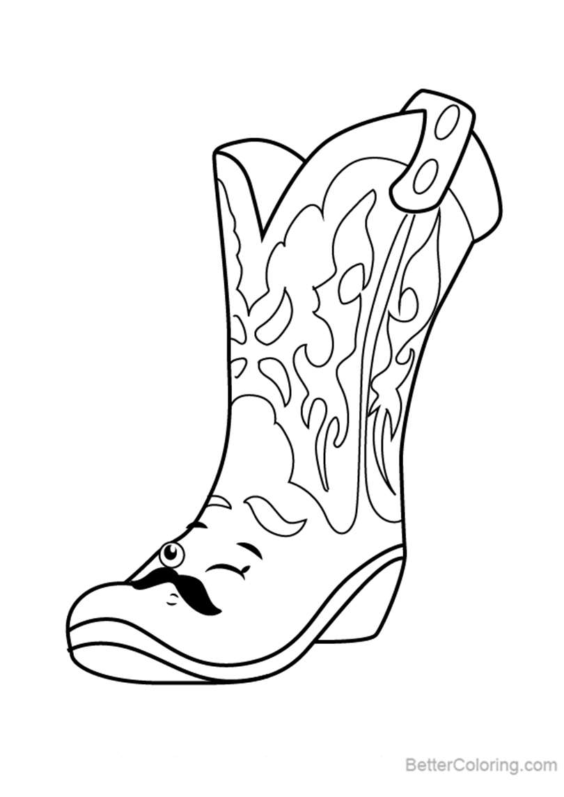 Free Betty Boot from Shopkins Coloring Pages printable