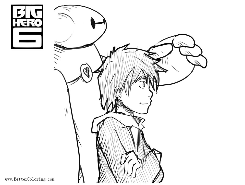 Free Big Hero 6 Coloring Pages Fanart by leoflynn printable